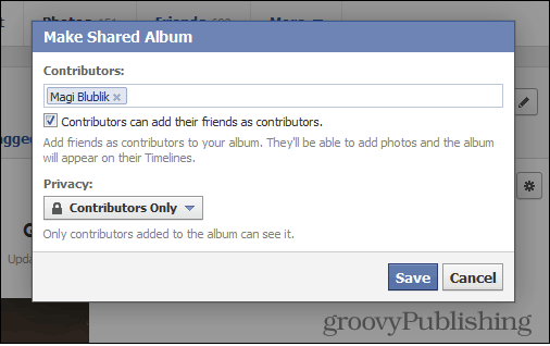 Facebook Shared Photo Albums Contributors