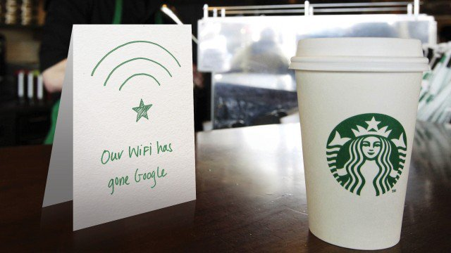 Google teams up with Level 3 to provide 10x faster Wi-Fi across 7000 US SBUX Stores