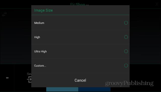 PicShop save size
