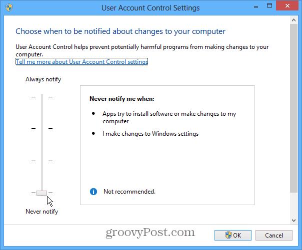 UAC Windows 8