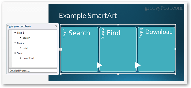 smartart smart art powerpoint power point 2013 button option feature