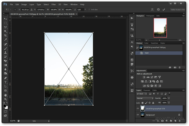 guide grid photo place photoshop overlay