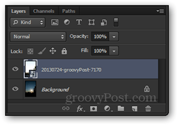 layers panel imported photos photoshop
