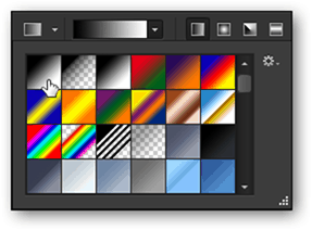gradient tool built in photoshop presets foreground to background color photoshop