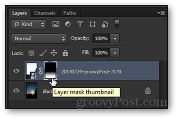 layer mask thumbnail layer clip layer mask clipped photoshop gradient black to white smooth transition