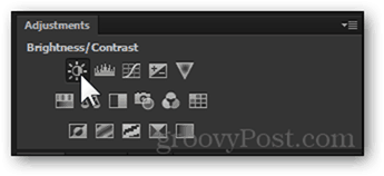 adjustments panel adjustment layer brightness and contrast adjustment photoshop