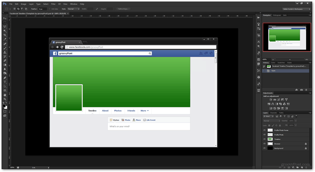 facebook template timeline psd photoshop
