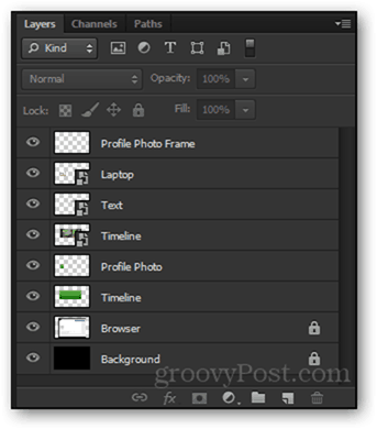 layers panel photoshop final psd facebook timeline project