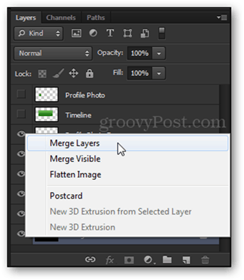 merge layers layers panel photoshop template psd timeline facebook
