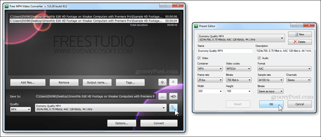 freestudio video convert options resolution quality bitrate