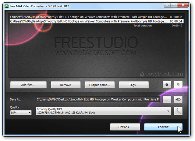 video convert hd video sd video freestudio convert button final conversion step
