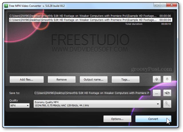 video convert hd video sd video freestudio convert button final conversion step