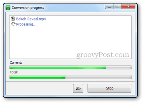 freestudio video conversion convert videos process progress