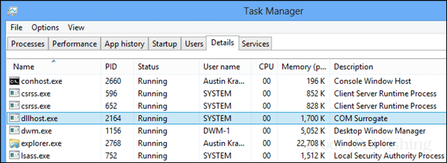 dllhost in the task manager