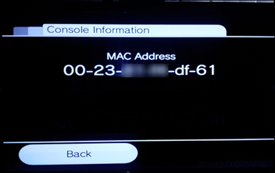 find wii mac address