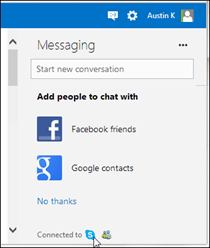 Back in January Microsoft added contact integration from the Outlook desktop app to Skype Skype Now Available via Outlook.com Email | N. America