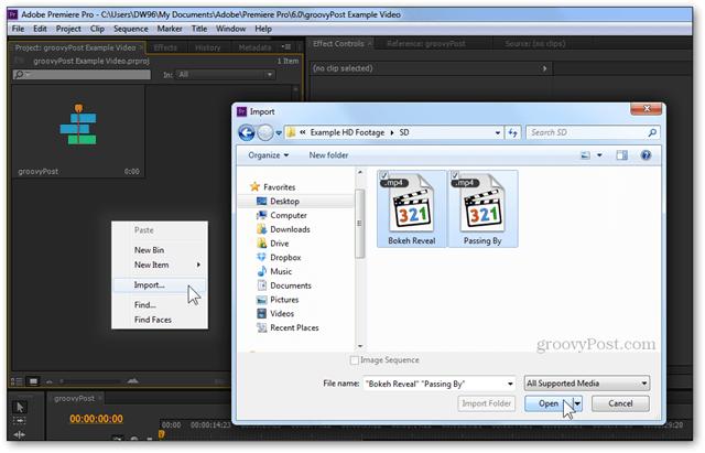 premiere pro cs5 cs6 import video sd footage converted