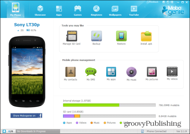 Mobogenie is an incredibly easy to use software which allows you to backup and perform a p Mobogenie is an Android Backup and Management Solution
