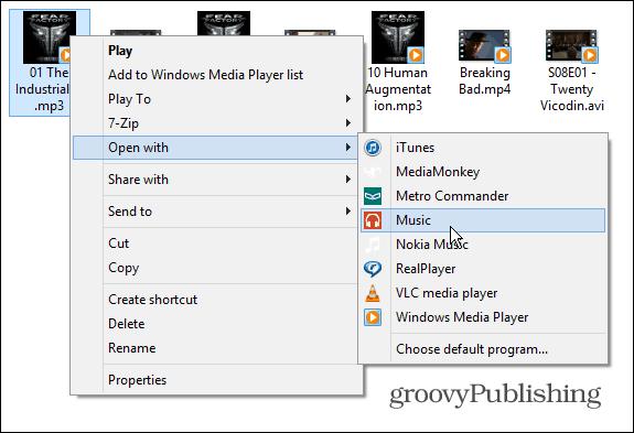 Make Windows Media Player Your Default in Windows 8