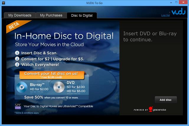3 insert DVD or Blu-ray