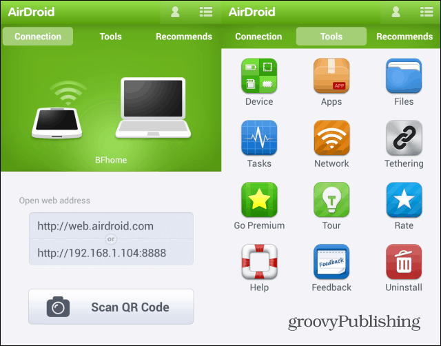 Airdroid address