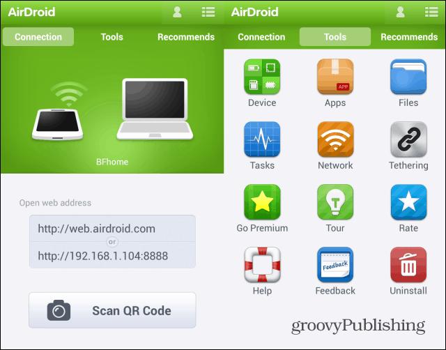 Airdroid address