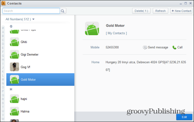 Airdroid contacts