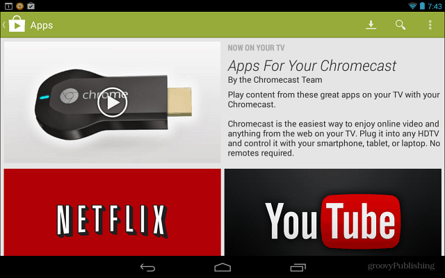 Apps for Chromecast
