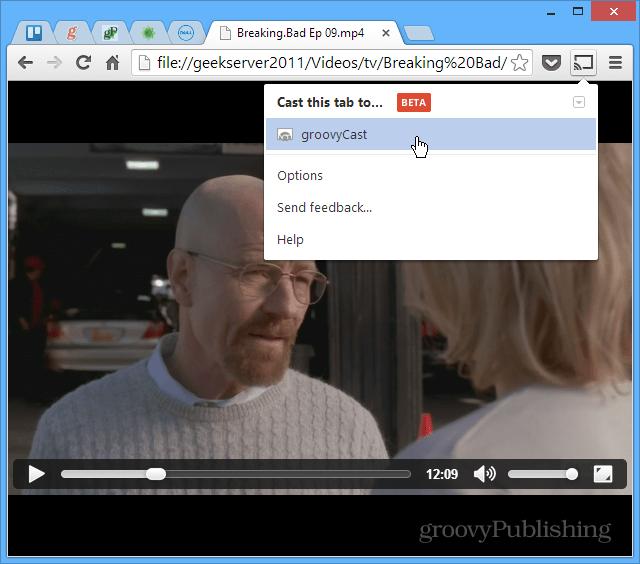 Browser to Chromecast