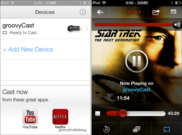 Chromecast iOS App