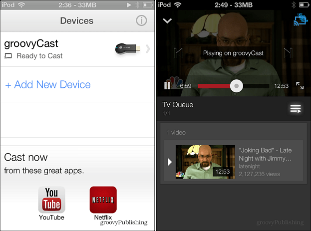 Chromecast on iOS