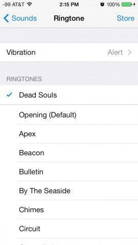 iPhone Custom Vibration