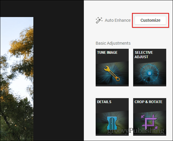Google  photo editing access customize