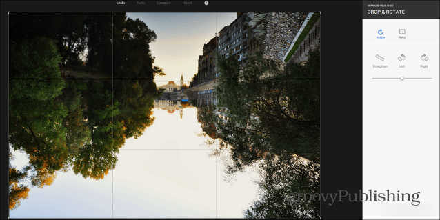 Google  photo editing crop rotate
