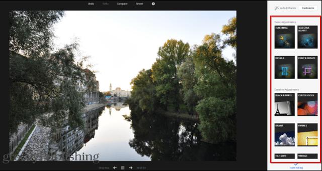 Google  photo editing tools