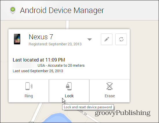 Lock Android Device