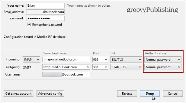 Manual Configuration fields IMAP