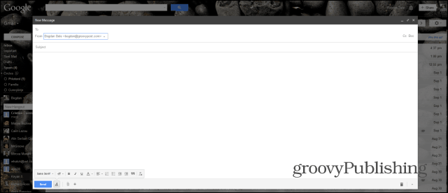 New Gmail Compose full screen applied