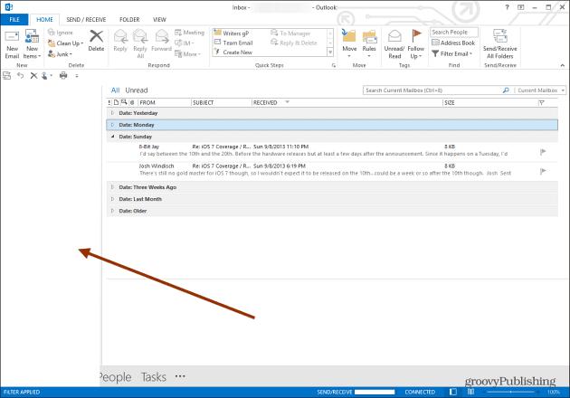 Outlook Folder Pane