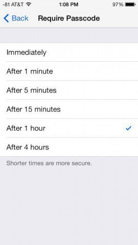 Someone asked me about this one yesterday How To Set Up, Or Turn Off, Passcode Lock in iOS 7