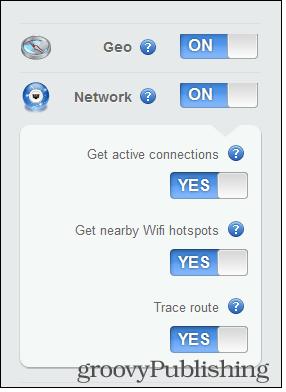 Prey control panel geo network