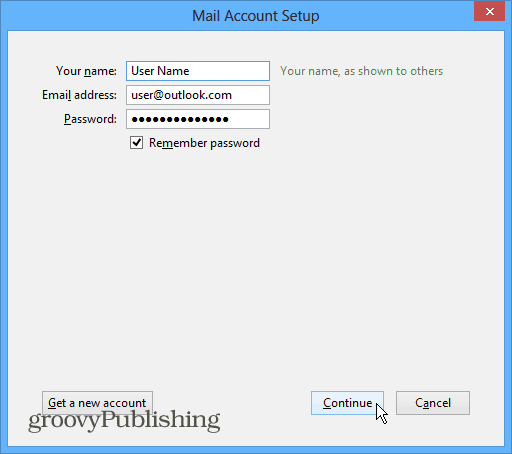 Thunderbird Mail Account Setup