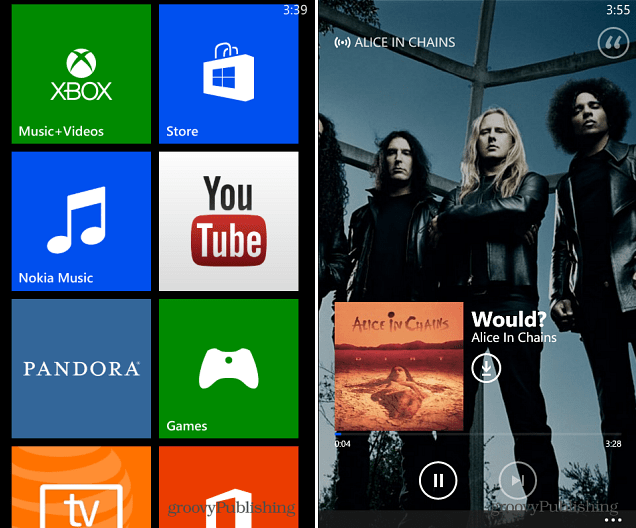 Windows Phone 8 Xbox Music