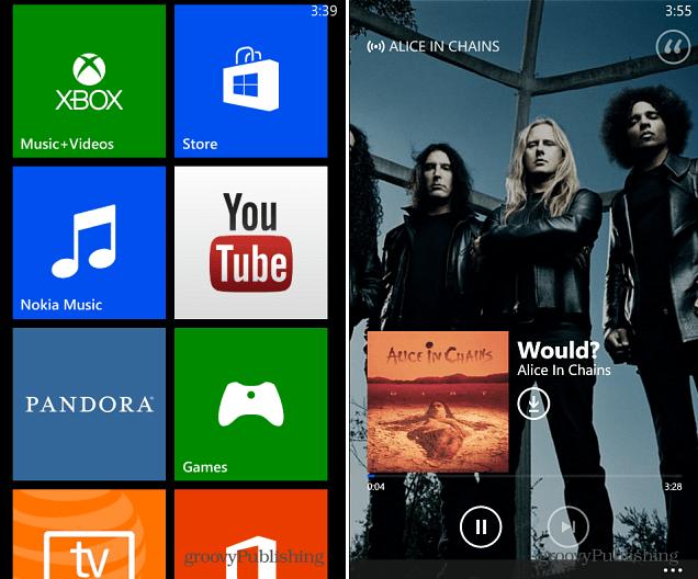 Windows Phone 8 Xbox Music