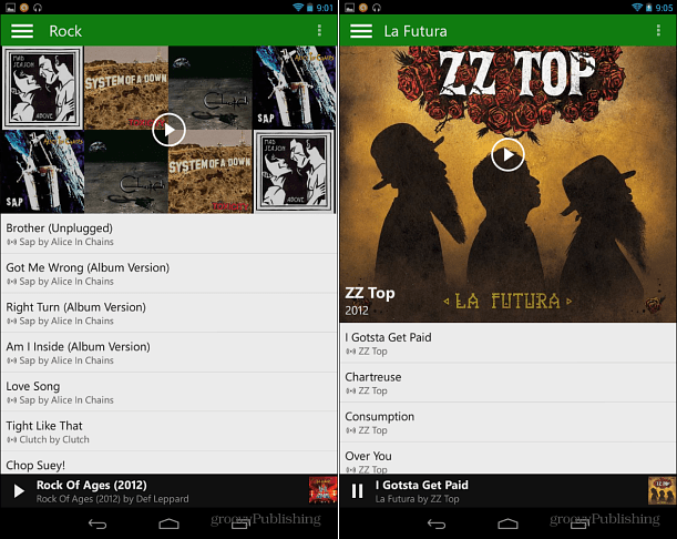 Xbox Music on Android