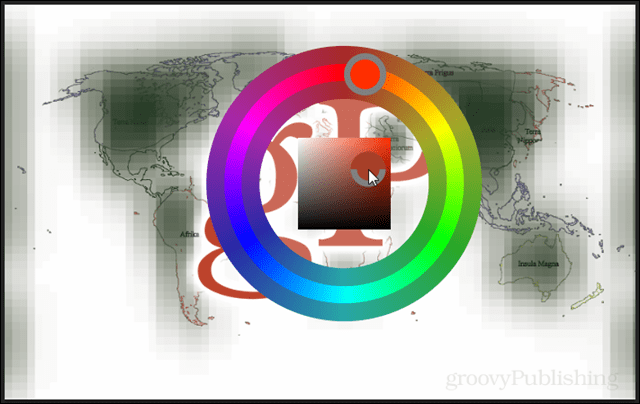 Using the hue color wheel in Photoshop CS6