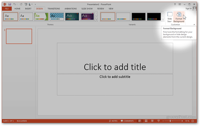 Make your own custom powerpoint template in office 2013 for How to create power point template