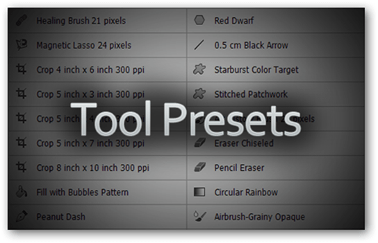 Photoshop Adobe Presets Templates Download Make Create Simplify Easy Simple Quick Access New Tutorial Guide Custom Tool Presets Tools