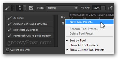 Make Photoshop Easier to Use by Making Presets