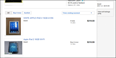 ebay ipad 2 prices